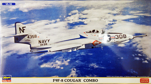 Hasegawa 02036 F9F-8 Cougar COMBO (2 plane set) 1/72 Scale Kit