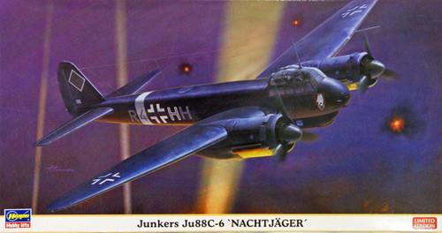 Hasegawa 02037 Junkers Ju88C-6 Nachtjager 1/72 Scale Kit