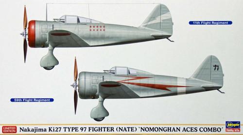 Hasegawa 02038 Nakajima Ki27 Type 97 NATE Nomonghan (2 plane set) 1/72 Scale Kit