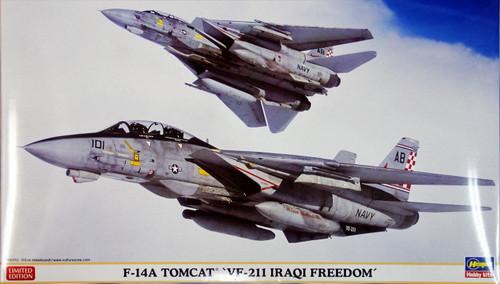 Hasegawa 02040 F-14A Tomcat VF-211 Iraqi Freedom 1/72 Scale Kit