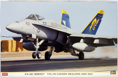 Hasegawa 07326 F/A-18C Hornet VFA-192 Golden Dragons 2009/2011 1/48 Scale Kit