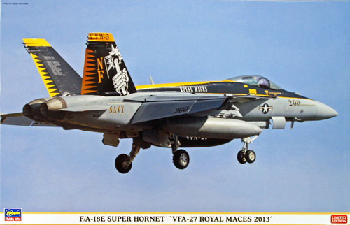 Hasegawa 07348 F/A-18E Super Hornet VFA-27 Royal Maces 2013 1/48 Scale Kit