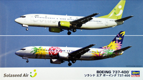 Hasegawa 10694 Solaseed Air Boeing 737-400 (2 plane set) 1/200 Scale Kit
