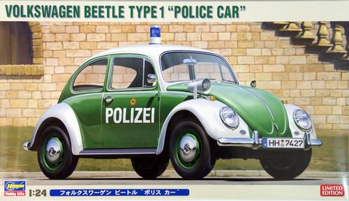 Hasegawa 20251 Volkswagen Beetle Type 1 Police Car (Polizei) 1/24 Scale Kit