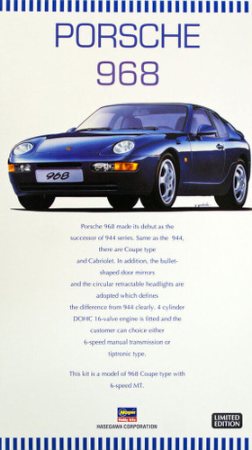 Hasegawa 20259 Porsche 968 1/24 Scale Kit (Limited Edition)