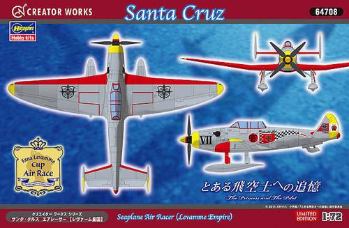 Hasegawa 64708 Santa Cruz Seaplane Air Racer Levamme Empire 1/72 Scale Kit