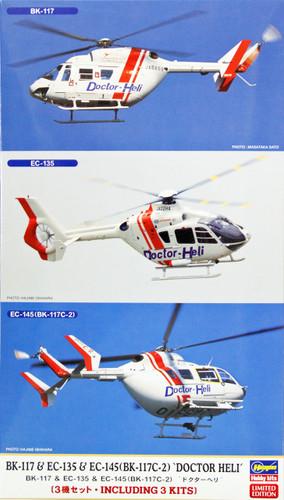 Hasegawa 02063 BK-117 & EC-135 & EC-145 (BK-117C-2) Doctor Heli 1/72 Scale Kit