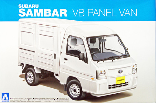 Aoshima 07389 Subaru SAMBAR Truck VB PANEL VAN 1/24 Scale Kit