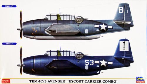 Hasegawa 01998 TBM-1C/3 Avenger ESCORT CARRIER COMBO 1/72 Scale Kit