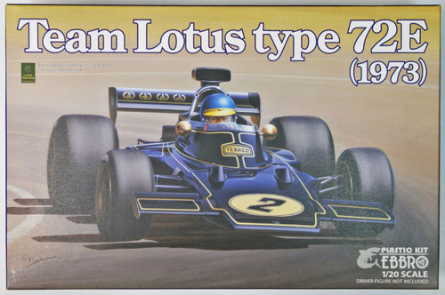 Ebbro 20009 Team Lotus Type 72E 1973 2nd. Production 1/20 Scale plastic model Kit