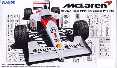 Fujimi GP SP34 F1 McLaren Honda MP4/6 Spain GP 1991 1/20 Scale Kit
