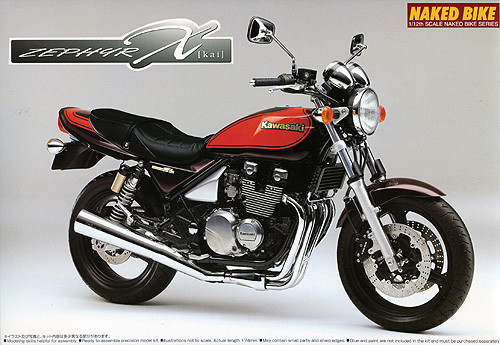 Aoshima Naked Bike 83 50248 Kawasaki ZEPHYR X (Kai) Final Edition 1/12 Scale Kit