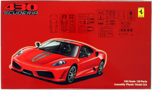 Fujimi RS-SP4 Ferrari F430 Scuderia DX with Etching Parts 1/24 Scale Kit