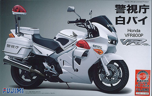 Fujimi Bike-SP Honda VFR800P Police Motorcycle (White) with Etching Parts 1/12 Scale Kit