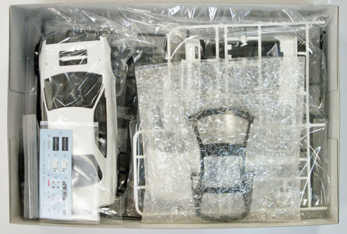Aoshima 08607 Nissan R34 Skyline GT-R V-Spec II White Pearl 1/24 Scale Kit (Pre-painted Model)