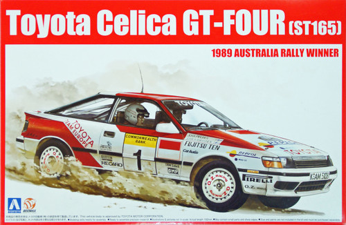 Aoshima 81198 Toyota Celica GT-Four ST165 1989 Australia Rally Winner 1/24 Scale Kit