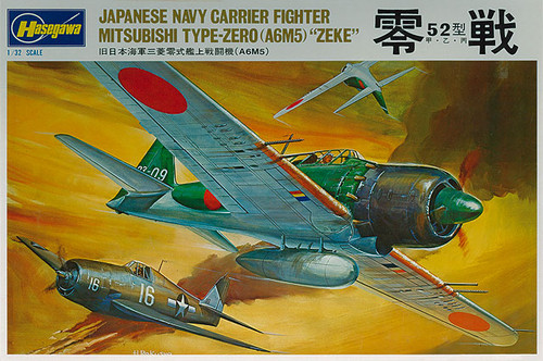 Hasegawa SP315 Japanese Navy Carrier Fighter Mitsubishi Type-Zero (A6M5) ZEKE 1/32 Scale Kit