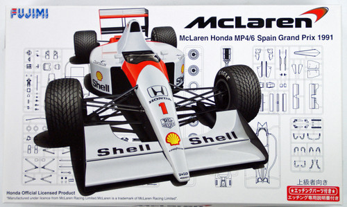 Fujimi GP SP 090733 F1 McLaren Honda MP4/6 Spain GP 1991 w/Etching Parts 1/20 Scale Kit