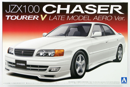 Aoshima 09659 JZX100 Chaser Tourer V Late Model Aero Version 1/24 Scale Kit
