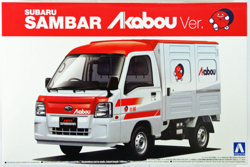 Aoshima 07396 Subaru Sambar Truck Akabou Version 2012 1/24 Scale Kit