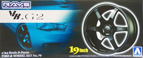 Aoshima 49532 Tire & Wheel Set No. 79 VR. G2 Forged Wheel 19 inch 1/24 Scale Kit