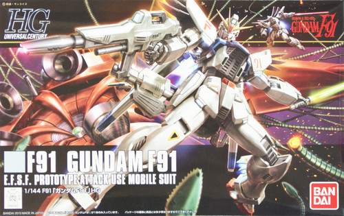 Bandai HGUC 167 Gundam F91 EFSF PROTOTYPE ATTACK USE MOBILE SUIT 1/144 Scale Kit
