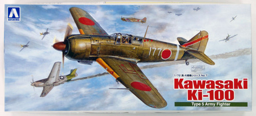Aoshima 08096 Kawasaki Ki-100 Type 5 Army Fighter 1/72 Scale Kit