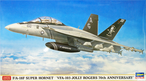 Hasegawa 02081 F/A-18F Super Hornet VFA-103 Jolly Rogers 70th Anniversary 1/72 Scale Kit