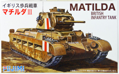 Fujimi SWA21 Special World Armor Matilda British Infantry Tank 1/76 Scale Kit