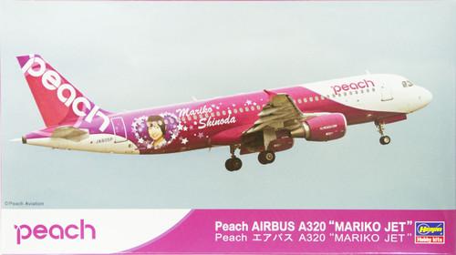Hasegawa 10804 Peach AIRBUS A320 MARIKO JET (Limited Edition) 1/200 Scale
