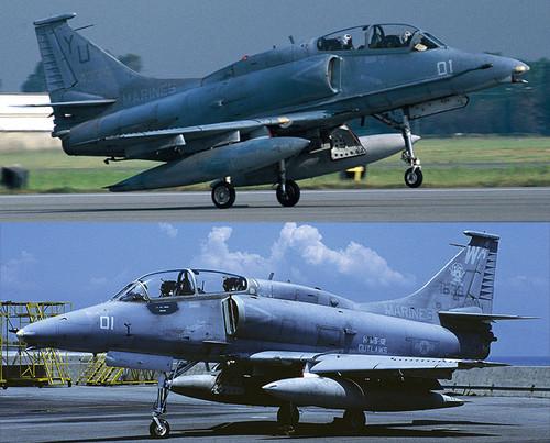 Hasegawa 02083 OA-4M Skyhawk H&MS Combo (2 plane set) 1/72 Scale Kit