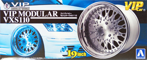 Aoshima 09086 VIP Car Tire & Wheel Set VIP Modular VXS110 19 inch 1/24 Scale Kit