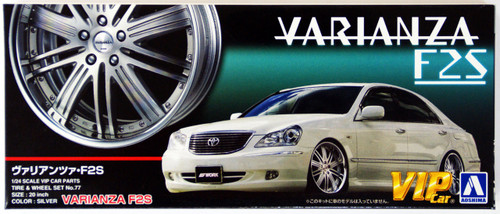Aoshima 43059 VARIANZA F2S 20 inch Silver Wheel & Tire Set 1/24 Scale Kit