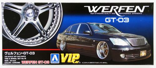 Aoshima 43066 Werfen GT-03 20 inch Wheel & Tire Set 1/24 Scale Kit