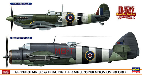Hasegawa 02087 Spitfire Mk. IXc & Beaufighter Mk. X Operation Overlord 1/72 Scale Kit