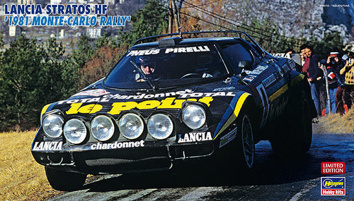Hasegawa 20261 Lancia Stratos HF 1981 Monte-Carlo Rally 1/24 Scale Kit (Limited Edition)