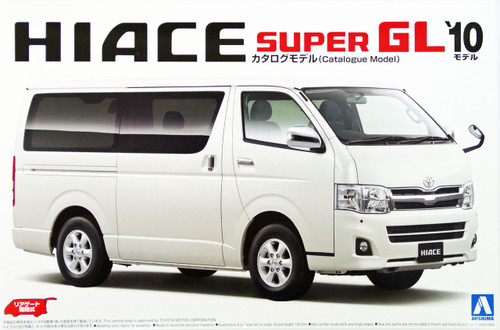 Aoshima 10464 Toyota HIACE Super GL 2010 Catalogue Model 1/24 Scale Kit