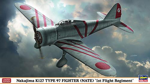 Hasegawa 07370 Nakajima Ki27 Type 97 Fighter (Nate) 1st Flight Regiment 1/48 Scale Kit
