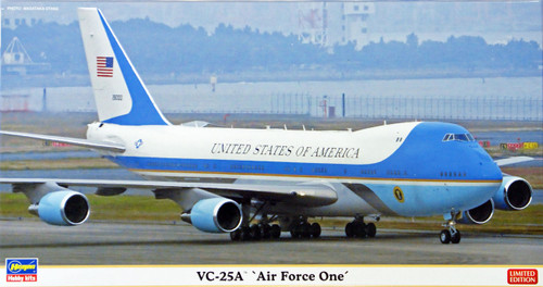 Hasegawa 10805 VC-25A Air Force One (Limited Edition) 1/200 Scale Kit