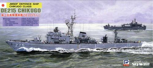 Pit-Road Skywave J-8 JMSDF Defense Ship DE215 Chikugo 1/700 Scale Kit
