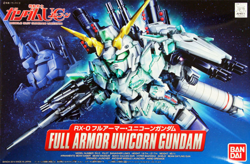 Bandai SD BB 390 Gundam RX-0 Full Armor Unicorn Gundam Plastic Model Kit