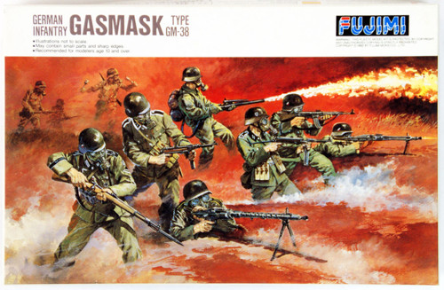 Fujimi WA28 World Armor Gasmask 1/76 Scale Kit