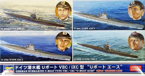 Hasegawa 30034 German Submarine U-Boat Type VIIC / IXC U-Boat Aces 1/700 Scale Kit