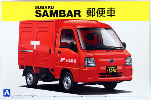 Aoshima 07419 SUBARU SAMBAR Truck Post Office Car 1/24 Scale Kit