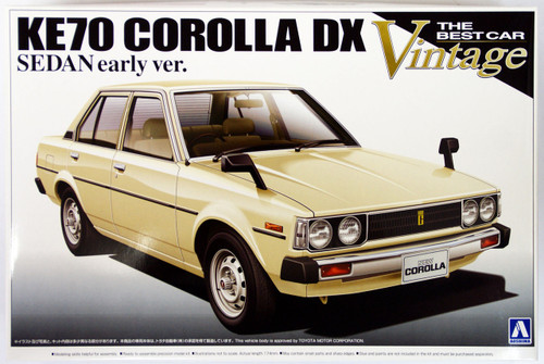 Aoshima 09840 KE70 Toyota Corolla DX Sedan Early Version 1/24 Scale Kit