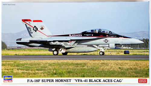 Hasegawa 02101 F/A-18F Super Hornet VFA-41 Black Aces Cag 1/72 Scale Kit