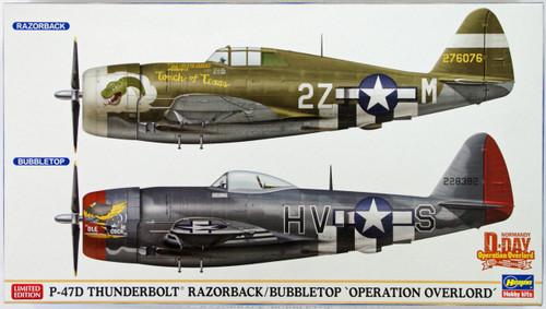 Hasegawa 02099 P-47D Thunderbolt Razorback / Bubbletop Operation Overlord (2 planes set)  1/72 Scale Kit