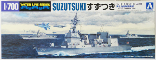 Aoshima Waterline 08195 JMSDF Japanese Defense Ship SUZUTSUKI 1/700 Scale Kit
