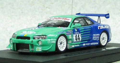 Ebbro 44481 FALKEN Nissan Skyline GT-R R34 #.44 Nurburgring 24H 1/43 Scale