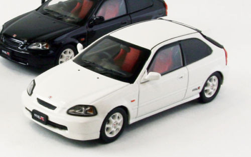 Ebbro 44835 HONDA CIVIC Type-R EK9 early version WHITE 1/43 Scale